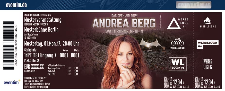 Andrea Berg Karten für ihre Events 2018