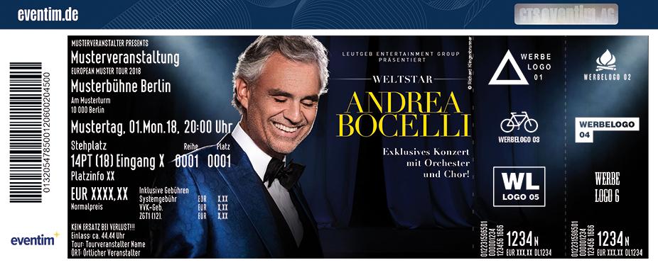 Karten für Andrea Bocelli - World Tour in Köln
