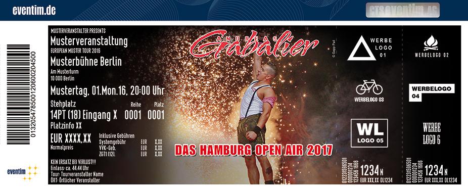 Andreas Gabalier Karten für ihre Events 2017
