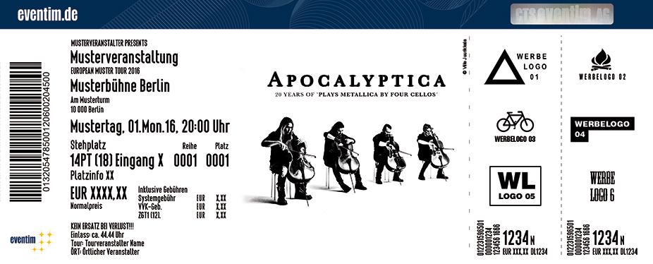 Apocalyptica Karten für ihre Events 2017