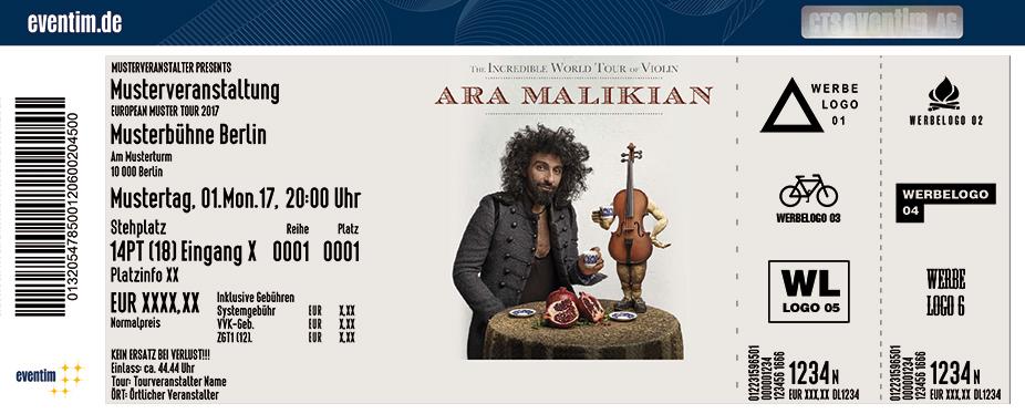 Ara Malikian Karten für ihre Events 2018
