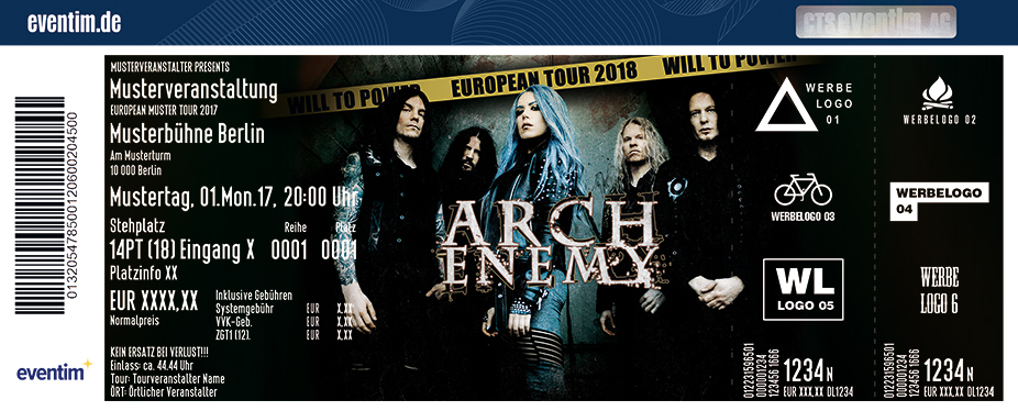 Karten für Arch Enemy: Will To Power Tour 2018 in München