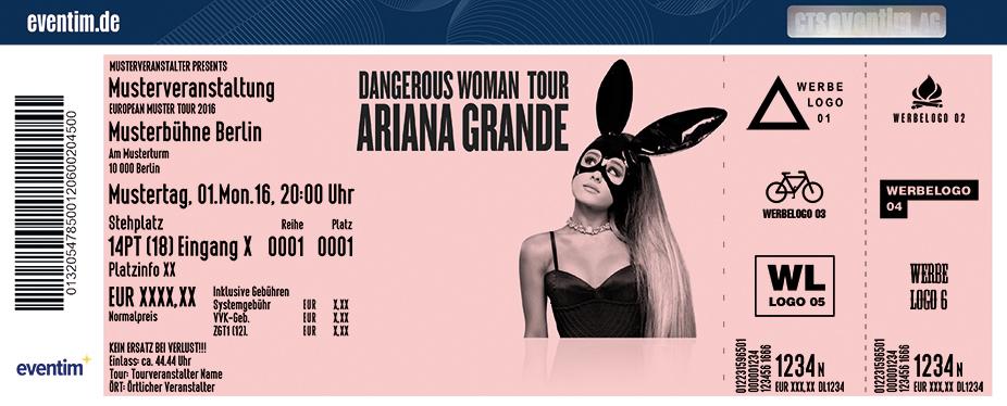 Ariana Grande Karten für ihre Events 2017
