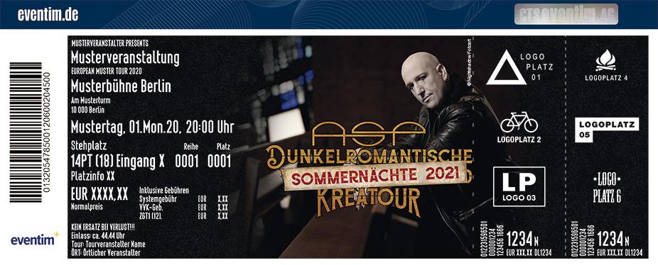 """ASP - Dunkelromantische Sommernächte """"KreaTour"""" 2021"""