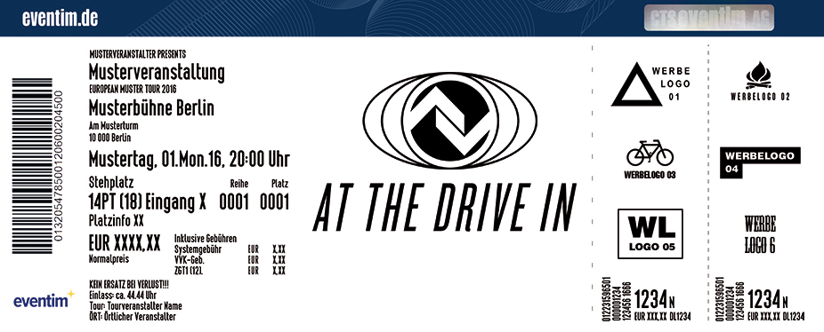 At The Drive In Karten für ihre Events 2017