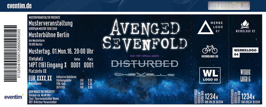 Avenged Sevenfold Karten für ihre Events 2017