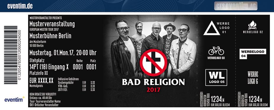 Bad Religion Karten für ihre Events 2017