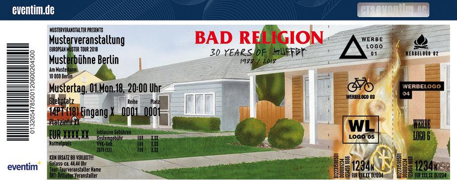 Bad Religion Karten für ihre Events 2018