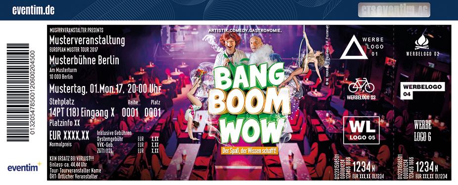 Karten für Varieté et cetera: Bang-Boom-Wow Der Spaß, der Wissen schafft! in Bochum