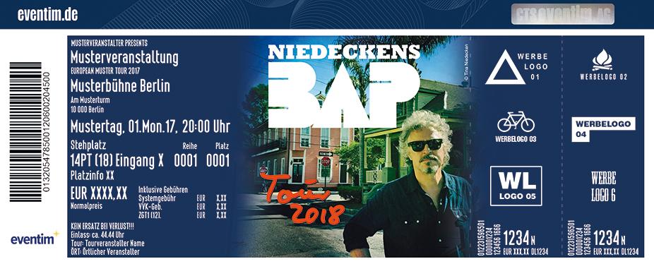 Karten für Niedeckens BAP - Tour 2018 in Köln