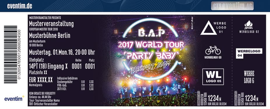 B.a.p (Rok) Karten für ihre Events 2017