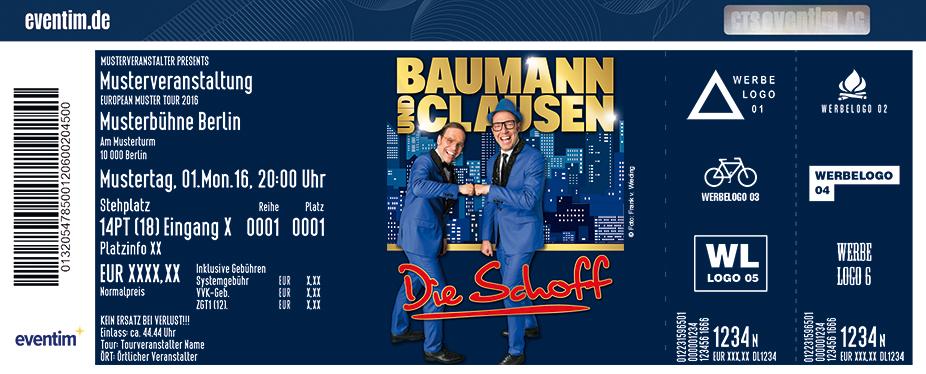 Karten für Baumann & Clausen: Die Schoff in Cottbus