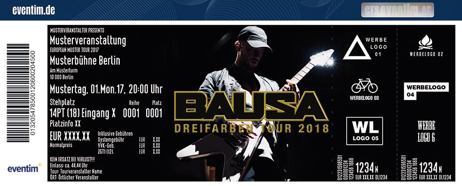 Bausa Karten für ihre Events 2018