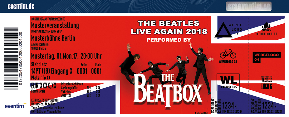 Karten für The Beatles Live Again 2018 performed by The Beat Box in Plessa