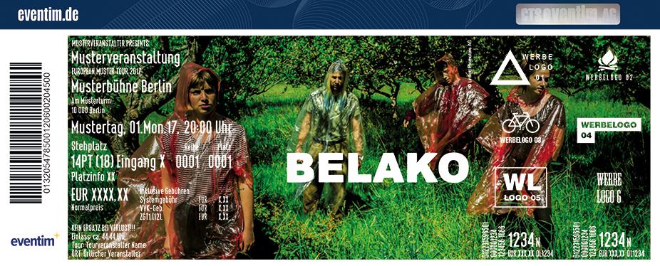Belako Karten für ihre Events 2017