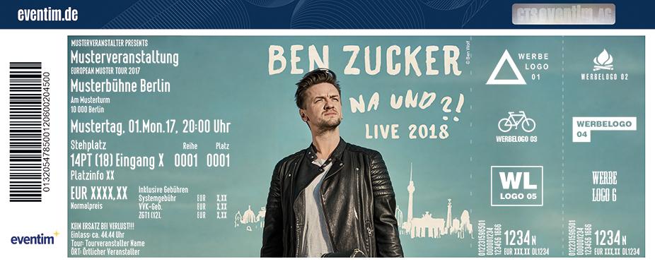 Ben Zucker Karten für ihre Events 2018