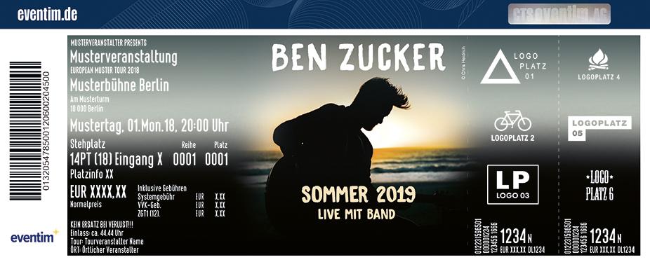 Ben Zucker - Sommer 2019 - Live mit Band
