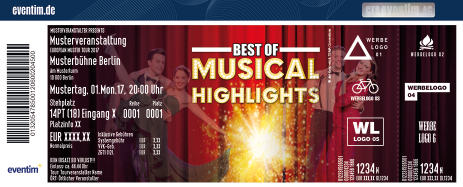 Best Of Musical Highlights Karten für ihre Events 2018