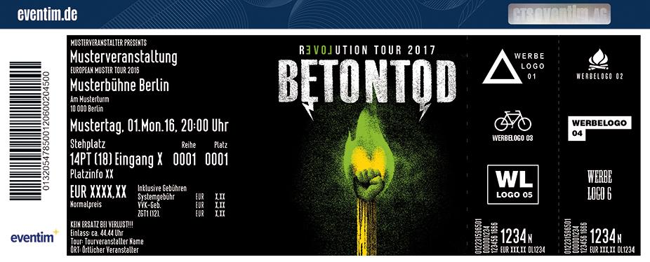 Betontod Karten für ihre Events 2017