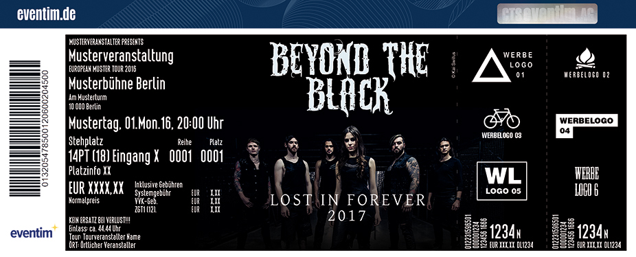 Karten für Beyond the Black: Lost in Forever 2017 in Bochum