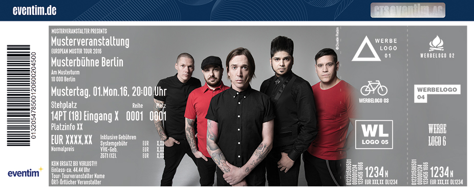Billy Talent Karten für ihre Events 2017