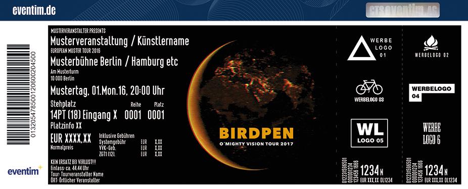 Birdpen Karten für ihre Events 2017