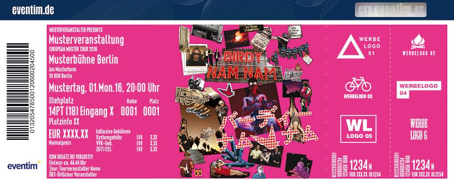 Birdy Nam Nam Karten für ihre Events 2017
