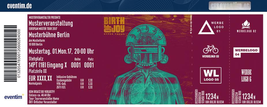 Birth Of Joy Karten für ihre Events 2017
