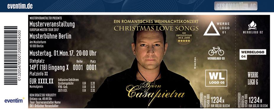 Karten für Björn Casapietra - Ein romantisches Weihnachtskonzert - Christmas Love Songs in Wedel