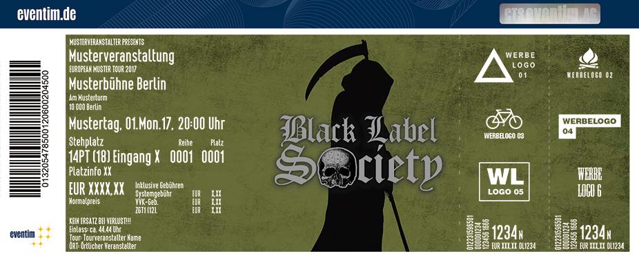 Black Label Society Karten für ihre Events 2018