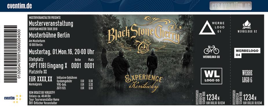 Black Stone Cherry Karten für ihre Events 2017