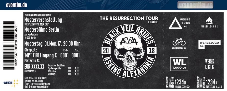 Karten für Black Veil Brides & Asking Alexandria in Köln
