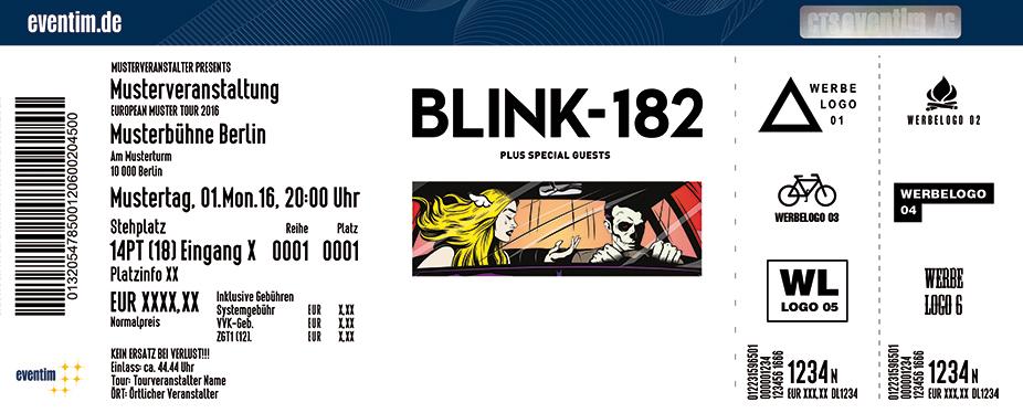 Blink-182 Karten für ihre Events 2017