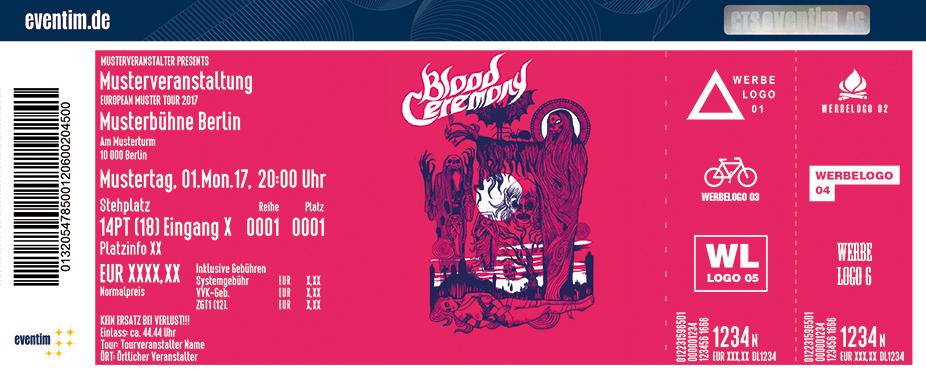 Blood Ceremony Karten für ihre Events 2017