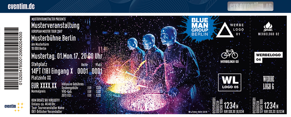 Karten für Blue Man Group in Berlin - Die Show-Sensation in Berlin