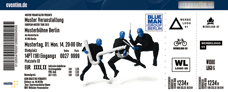 die show sensation blue man group in berlin. Black Bedroom Furniture Sets. Home Design Ideas
