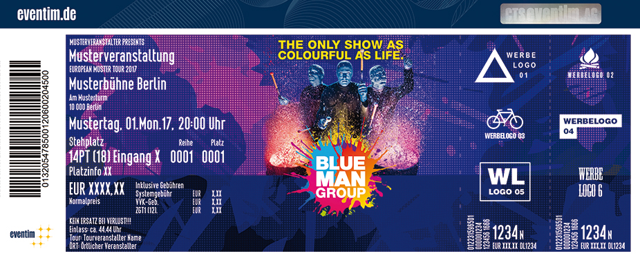 Blue Man Group - Tour Karten für ihre Events 2018