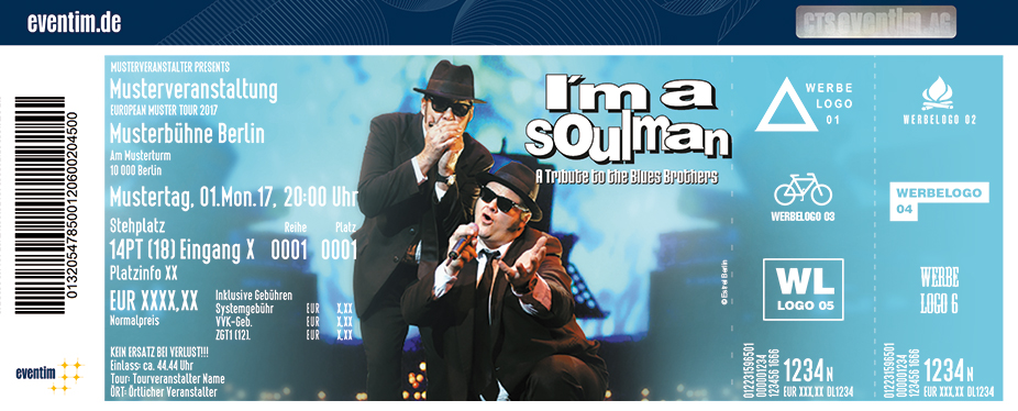 Karten für I'm a Soul Man - A Tribute to the Blues Brothers | ESTREL Festival Center Berlin in Berlin