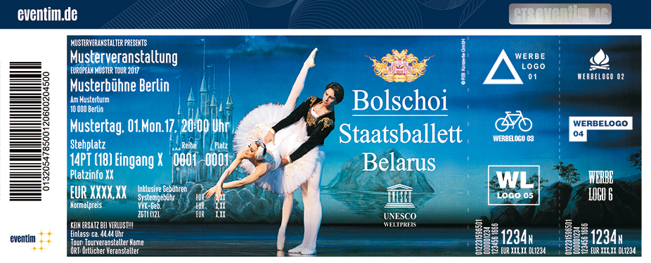 Karten für Schwanensee - Bolschoi Staatsballett Belarus in München