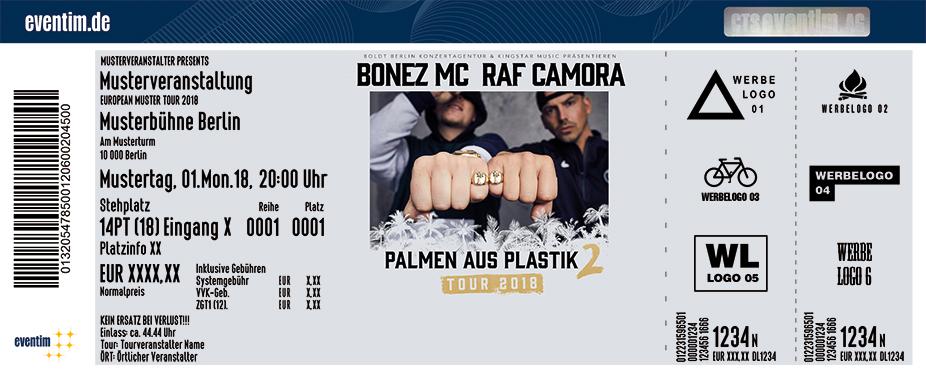 Raf Camora Karten für ihre Events 2018