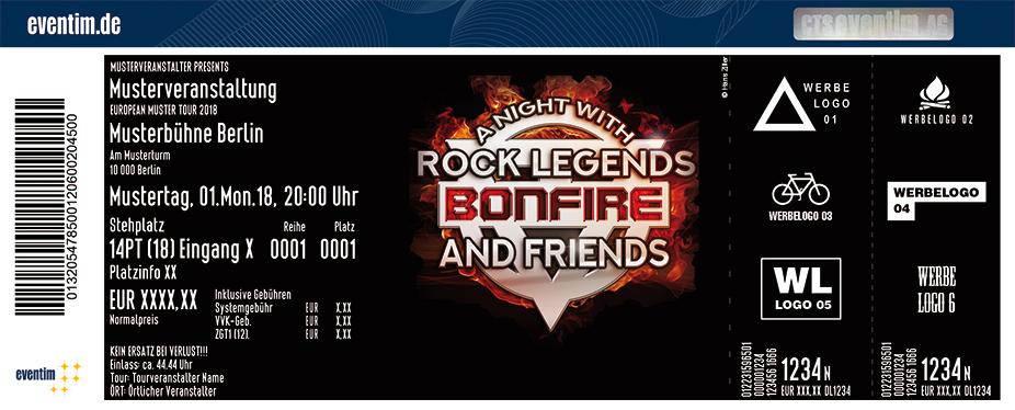 Bonfire Karten für ihre Events 2018