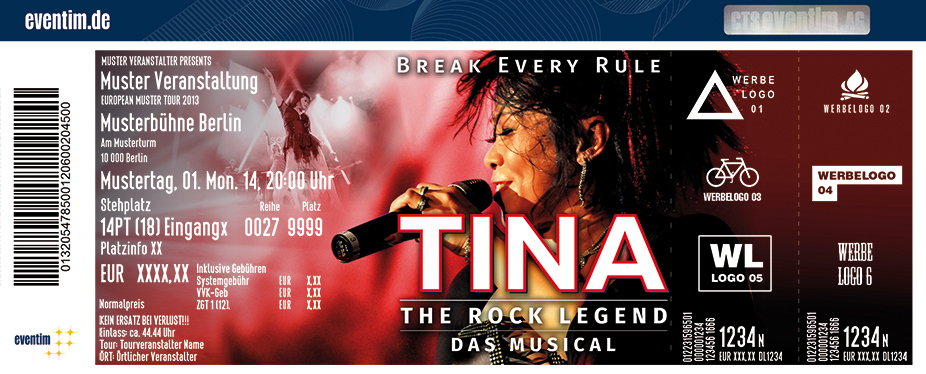 Karten für TINA The Rock Legend - Das Musical in Minden