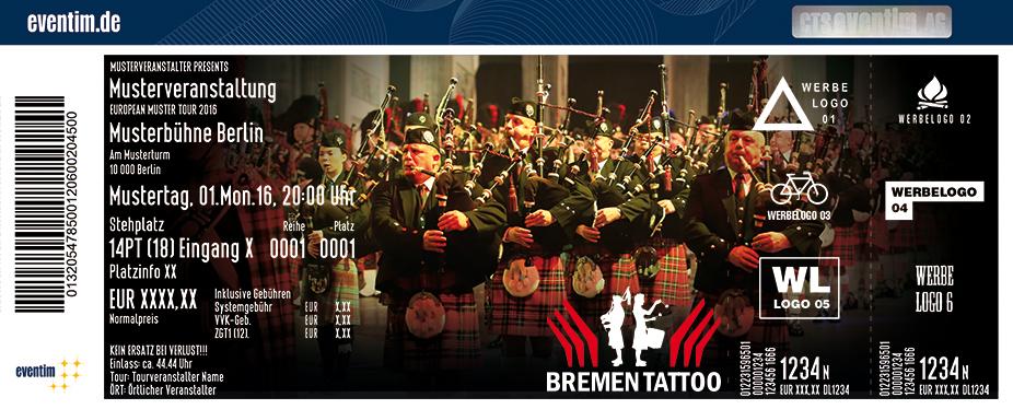 Karten für Bremen Tattoo 2018 - Die Musikschau mit 10 Nationen in Bremen