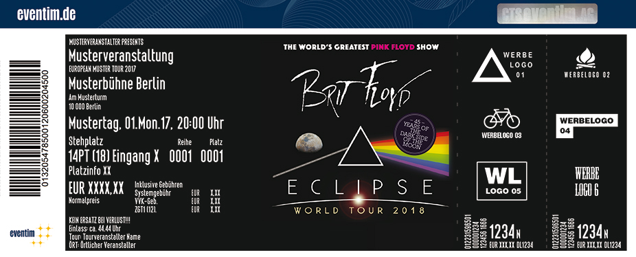 Brit Floyd - The Pink Floyd Tribute Show Karten für ihre Events 2018