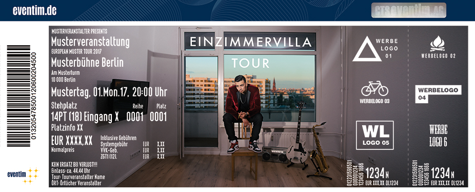 Karten für BRKN: Einzimmervilla Tour 2017 in Berlin