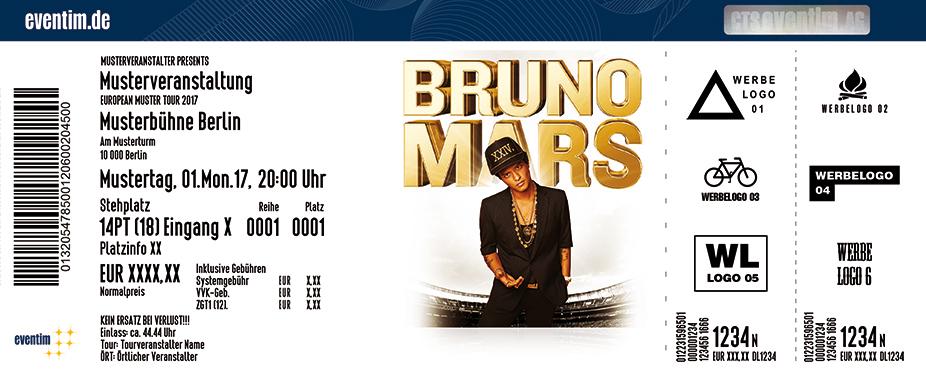 Bruno Mars Karten für ihre Events 2018