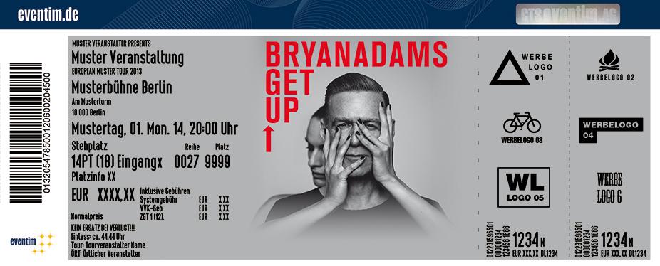 Bryan Adams Karten für ihre Events 2017