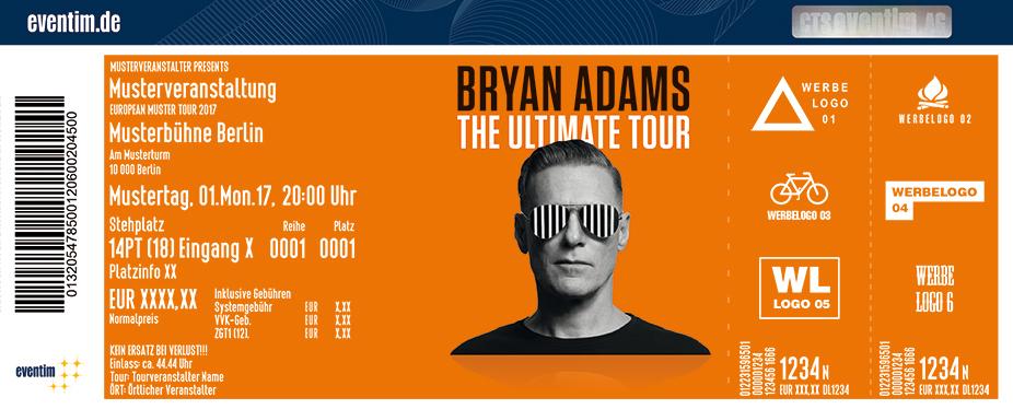 Bryan Adams Tickets 2018 - Karten jetzt zu Top-Preisen bestellen ...