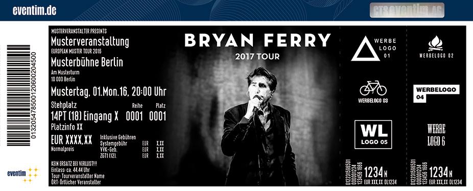 Bryan Ferry Karten für ihre Events 2017