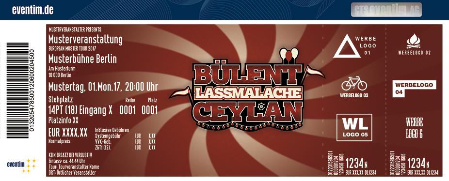 Karten für Bülent Ceylan: LASSMALACHE - neues Programm in Oldenburg